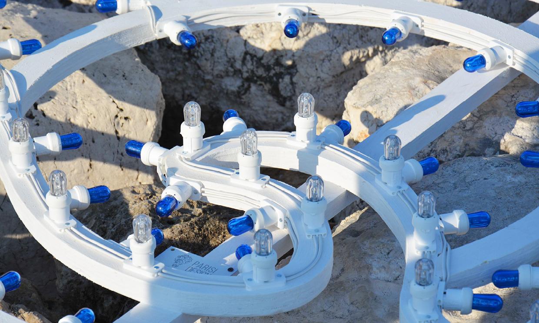 installazione luminosa - effimero - San Cataldo, Lecce