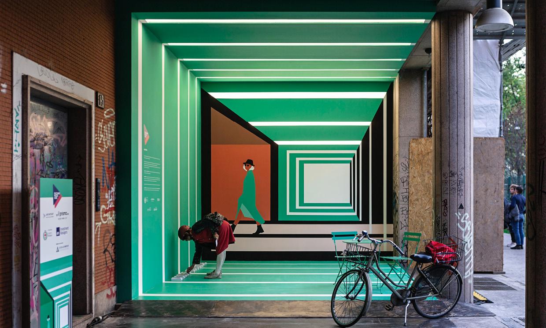 installazione attraVERSO - Milano