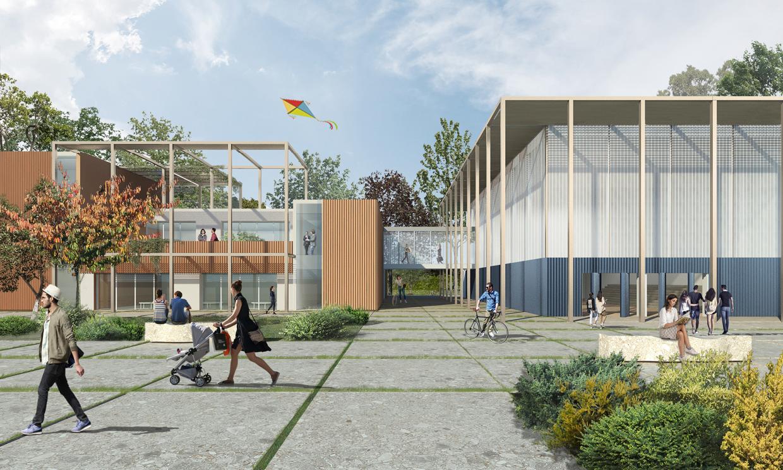 progetto finalista concorso internazionale di progettazione - scuola Scialoia - Milano